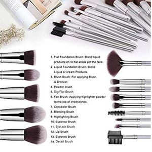 Makeup - 🆕13 Piece Makeup Brush Set with Silver Handles